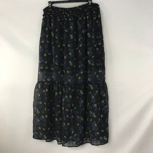 Xhilaration Sheer Chiffon Floral Skirt